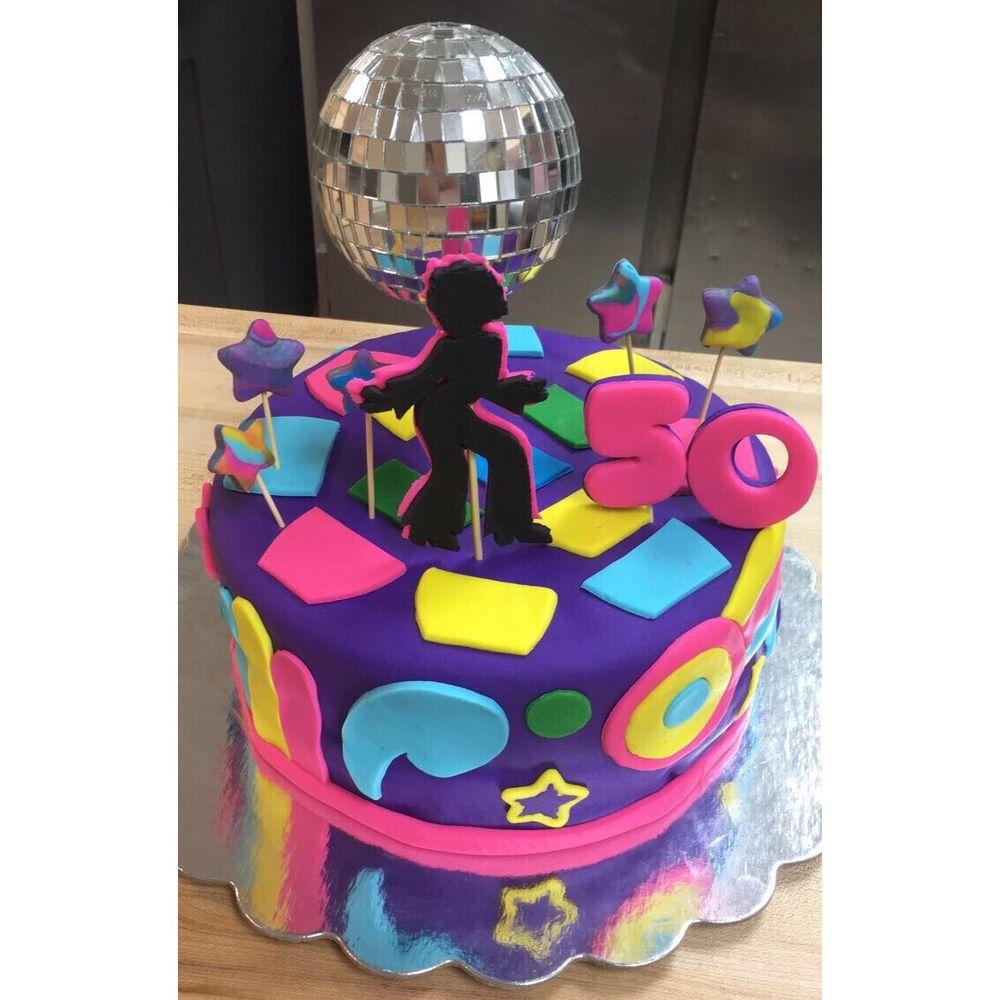 70s Themed 50th Birthday Cake Enzittosbakery 70sthemecake