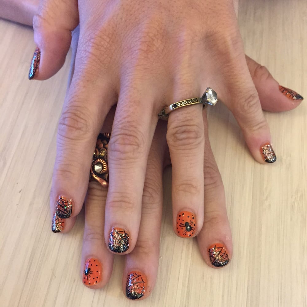 Galaxy nails with full stones as my accent nail - Yelp