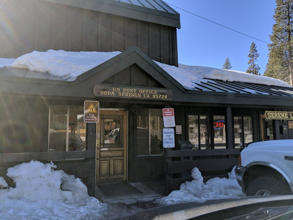 US Post Office: 21719 Donner Pass Rd, Soda Springs, CA