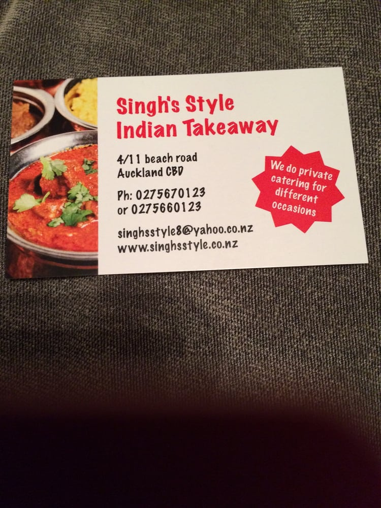 Singh s style indian takeaway indian 4 11 beach rd for Ajadz indian cuisine auckland