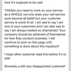 tmobile costumer service
