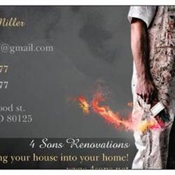 4 Sons Renovations Handyman 7918 Elmwood St Littleton