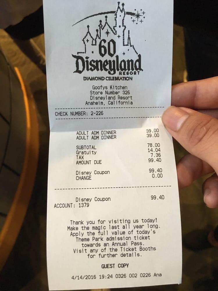 Goofy S Kitchen Dinner Review