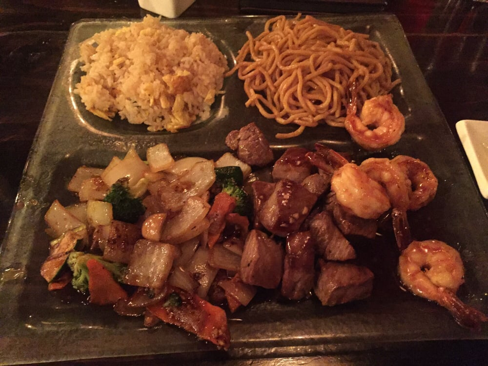 Hibachi combo is good lots of carbs rice and noodle lol for Aja asian cuisine menu