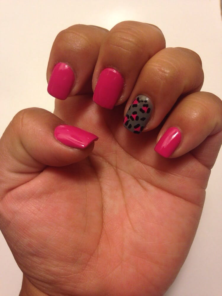 Got a acrylic fill + one broken nail (fixed) + 2 designs = $20! I ...