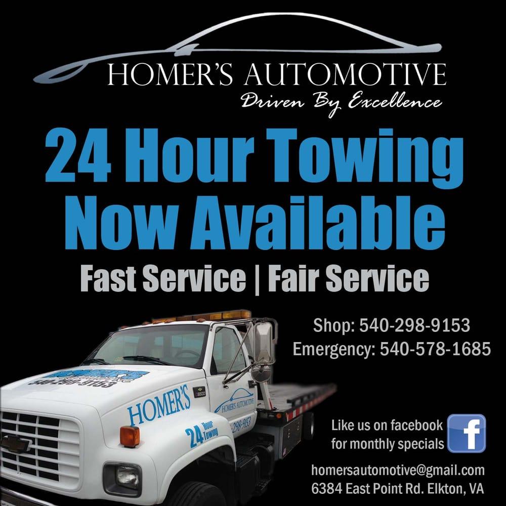 Homer's Automotive: 6384 E Point Rd, Elkton, VA