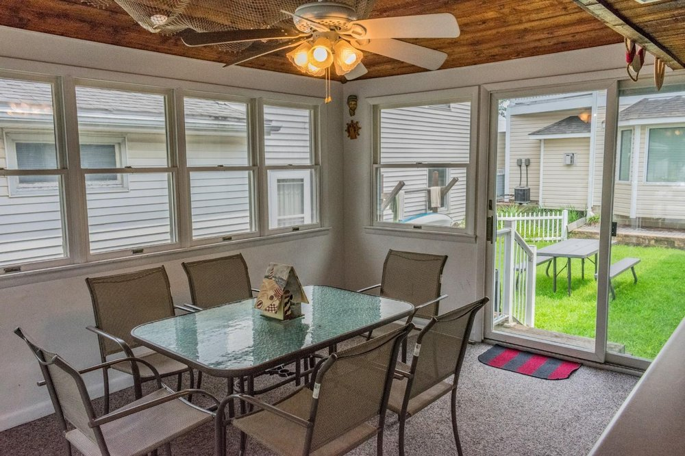 Enclosed Porch, Back Door Entry ~ TV ~ Grilling Equipment   Yelp
