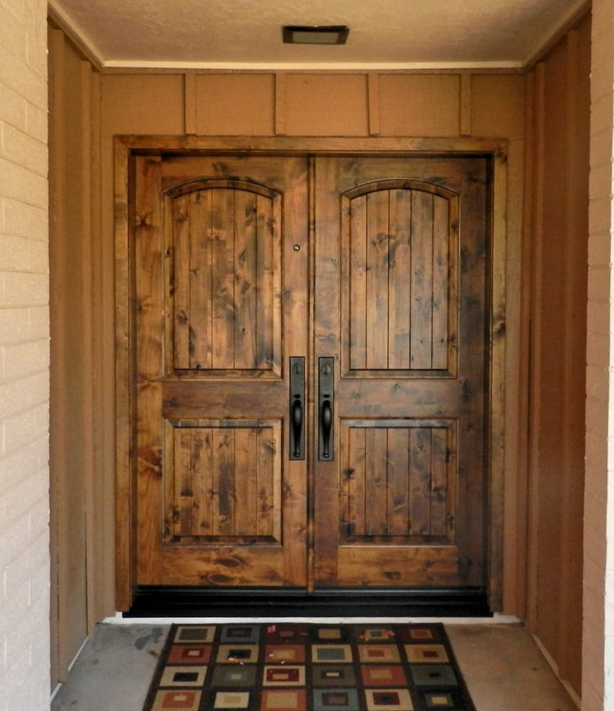 Simpson Knotty Alder Door Emtek Full Length Rectangular
