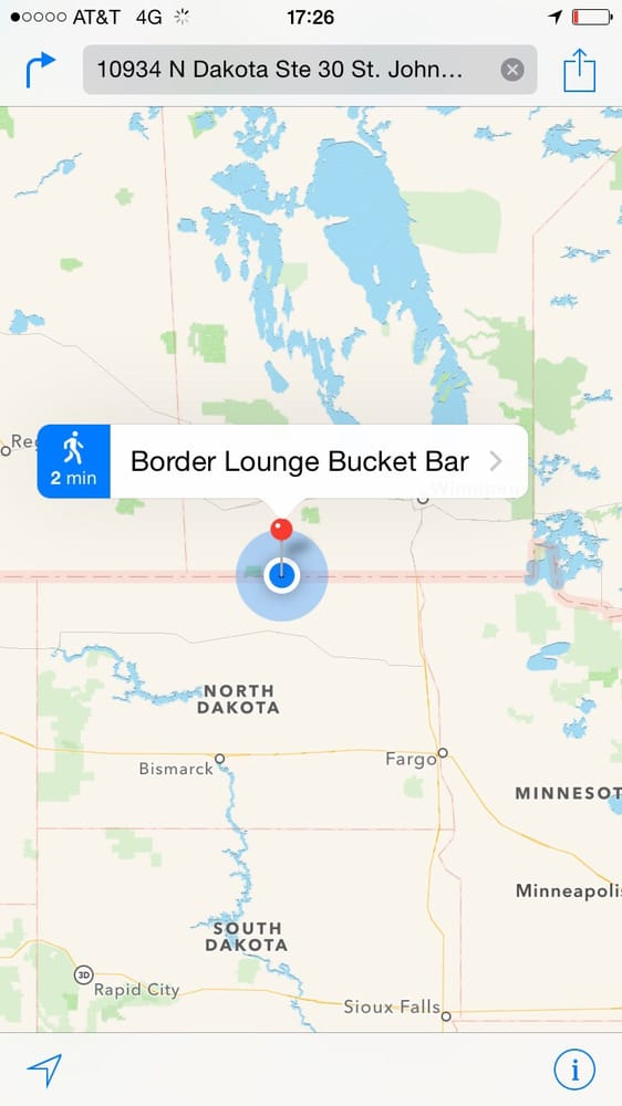 Border Lounge Bucket Bar: 10934 N Dakota, St. John, ND