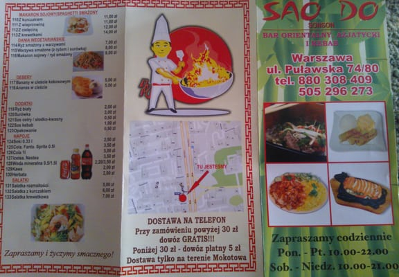 Sao Do Sonson Wietnamska Ul Puławska 7480 Stary