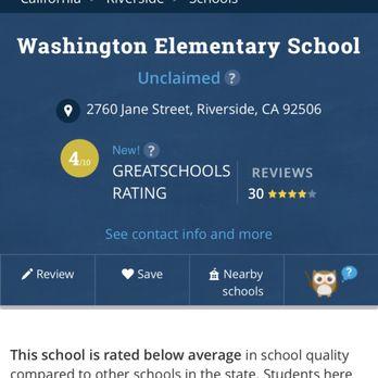Washington Elementary School - 2760 Jane St, Riverside, CA