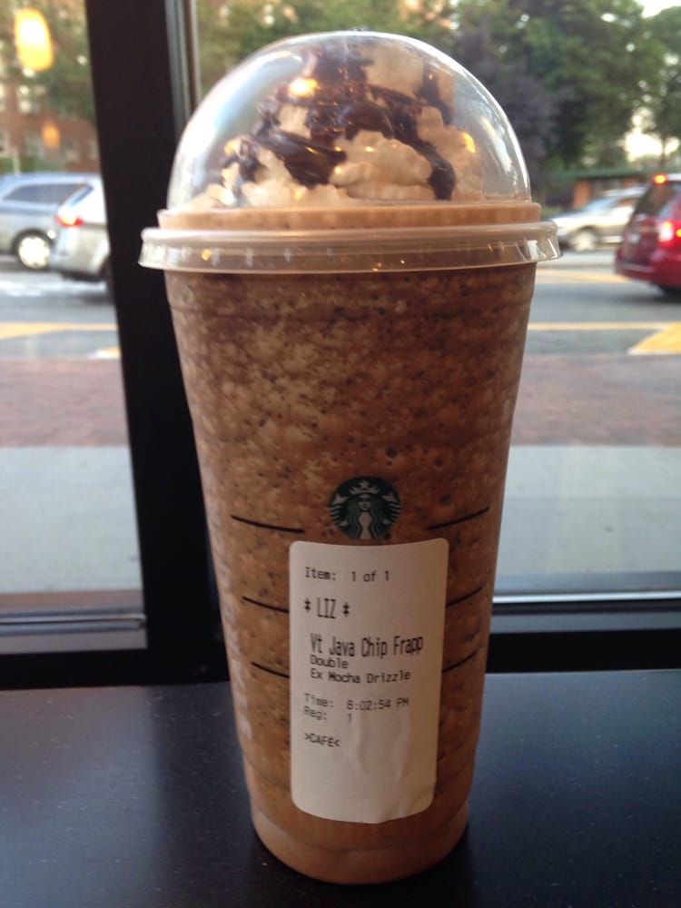 Venti Java Chip Frappuccino with double espresso, extra ...