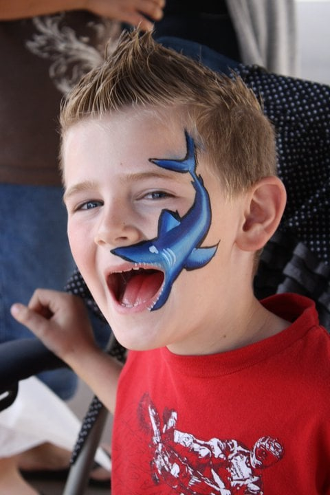 boys love this Shark mouth face paint | Yelp