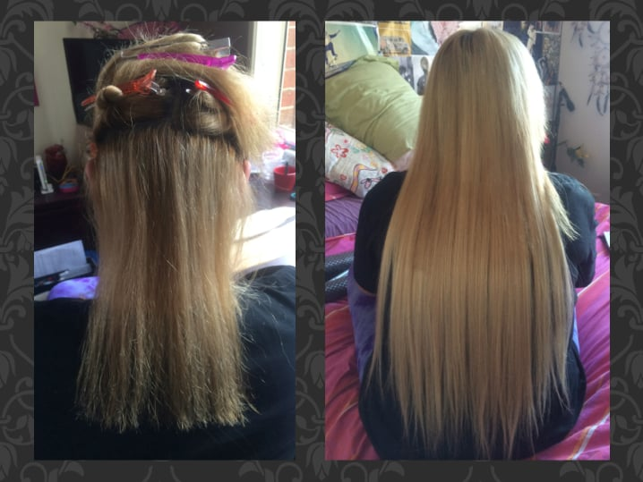 Before And After Full Head Of Tape Extensions 22 Inch Yelp