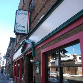 Eduardo Restaurant Montreal Menu