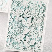 Embossed Romantic Couture Photo Of B Wedding Invitations   Torrance, CA,  United States.