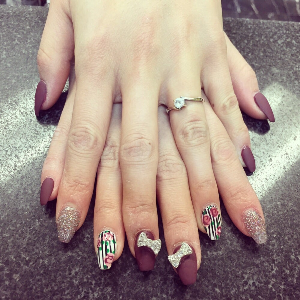 Coffin shaped full set with design! - Yelp