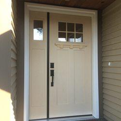 Photo of Green Tree Installations - Surrey BC Canada. Fiberglass door with sidelight & Green Tree Installations - Get Quote - Windows Installation - 16759 ...
