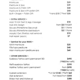Photo Of Phanu Nail Bar Abbotsford Victoria Australia Pricelist As July
