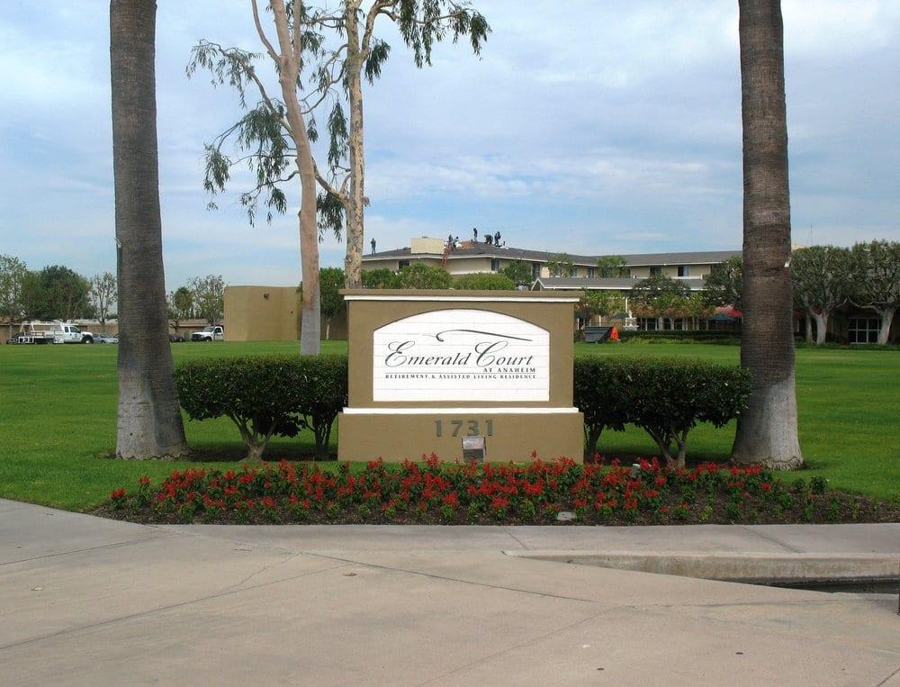 Emerald court retirement center main entry yelp for Professional garden maintenance
