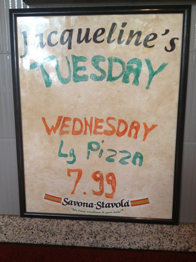 Jacquelines Pizza & Pasta: 108 S Broadway, Gloucester City, NJ