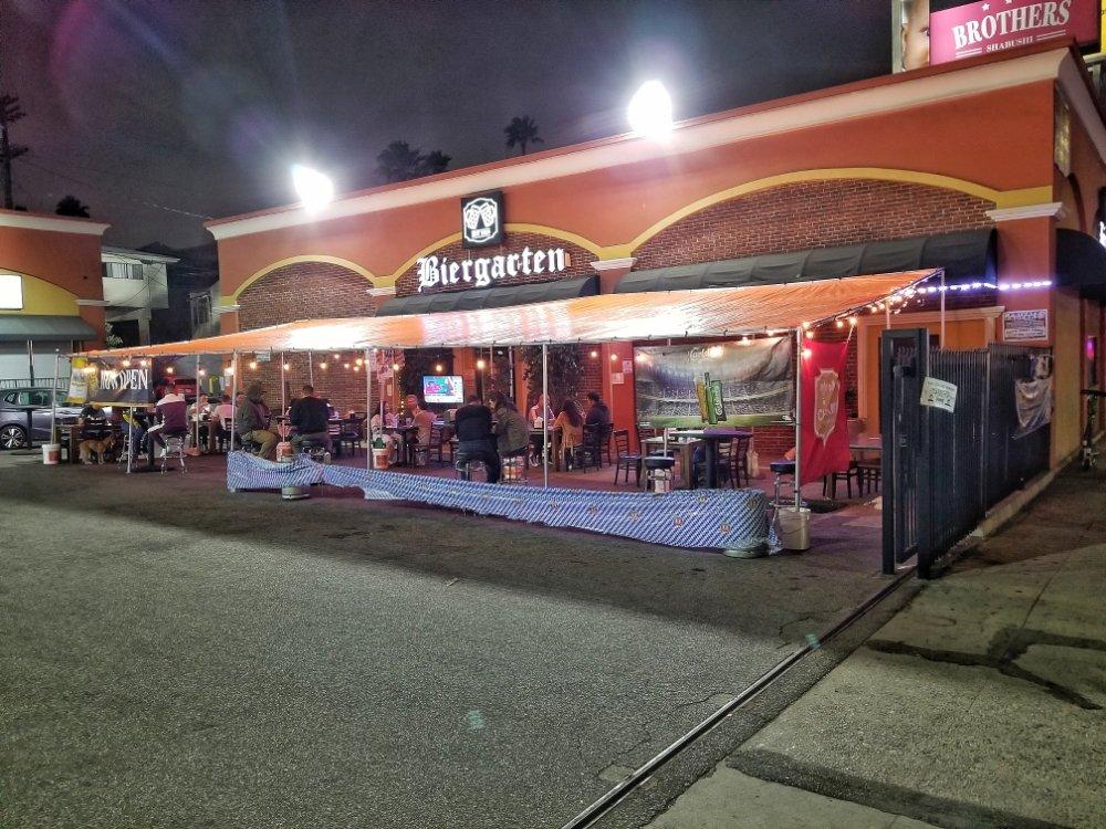 Biergarten: 206 N Western Ave, Los Angeles, CA