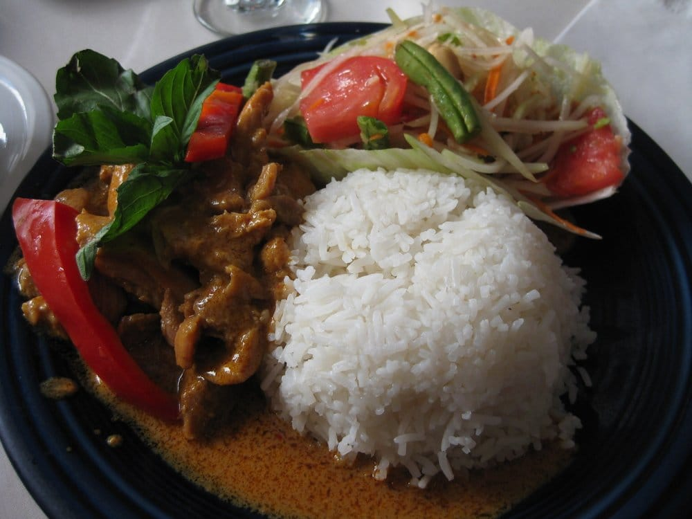 Lunch special 2 for papaya salad panang curry for Amarin thai cuisine