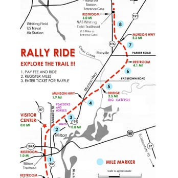 Milton Florida Map.Blackwater Heritage State Trail Parks 5533 Alabama St Milton