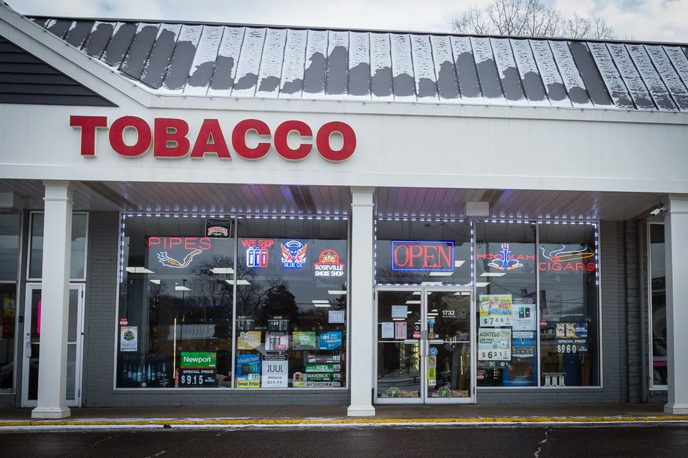 Roseville Smoke Shop: 1734 Lexington Ave N, Saint Paul, MN
