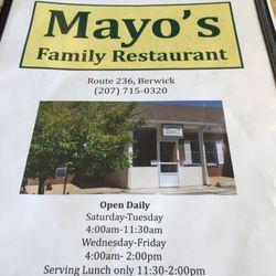Photo Of Mayo S Family Restaurant Berwick Me United States