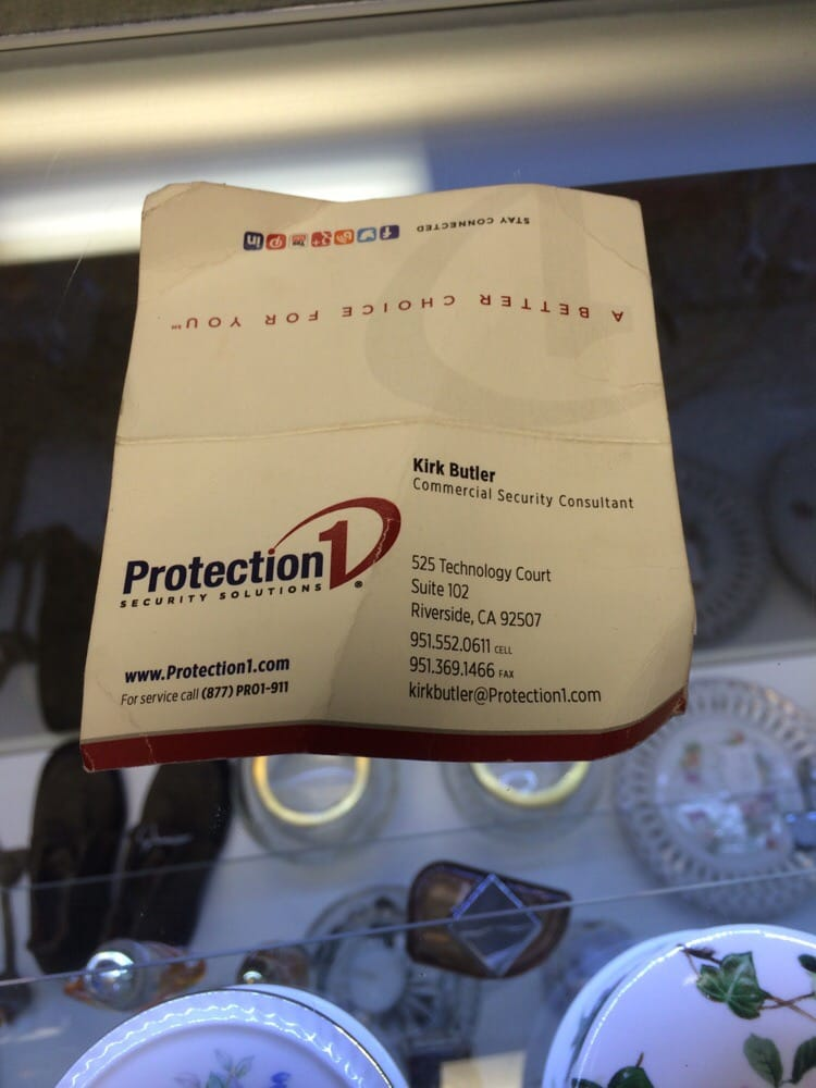 Heres the business card that he gave me yelp photo of protection 1 security solutions riverside ca united states heres the reheart Choice Image