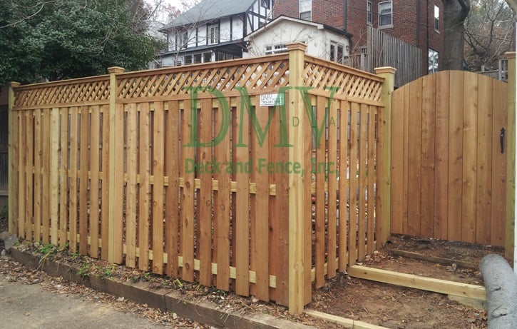 Cedar Shadow Box Fence With Lattice Yelp