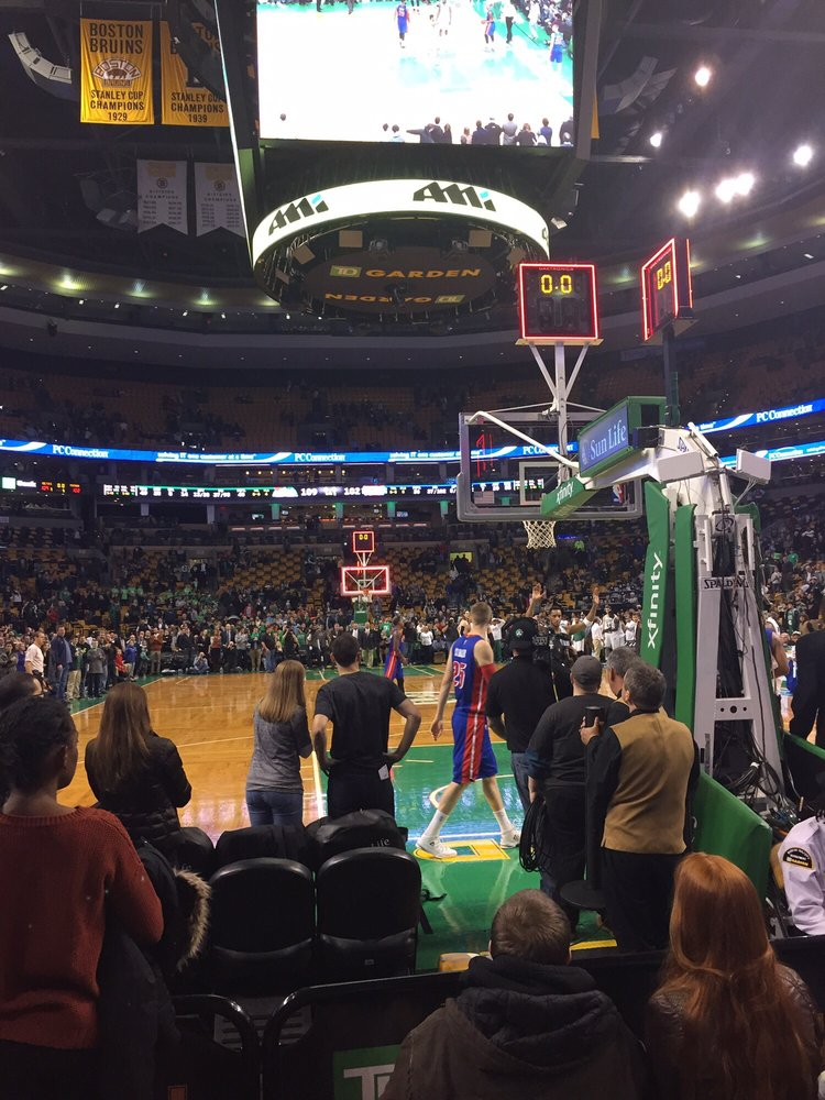 Floor seats behind the celtics basket yelp for Restaurants near td garden boston ma