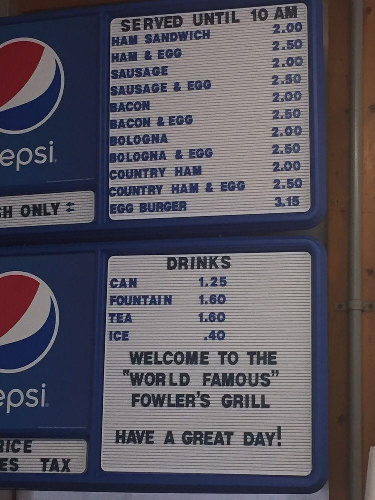 Fowler's Grill of Loris: 4111 Broad St, Loris, SC