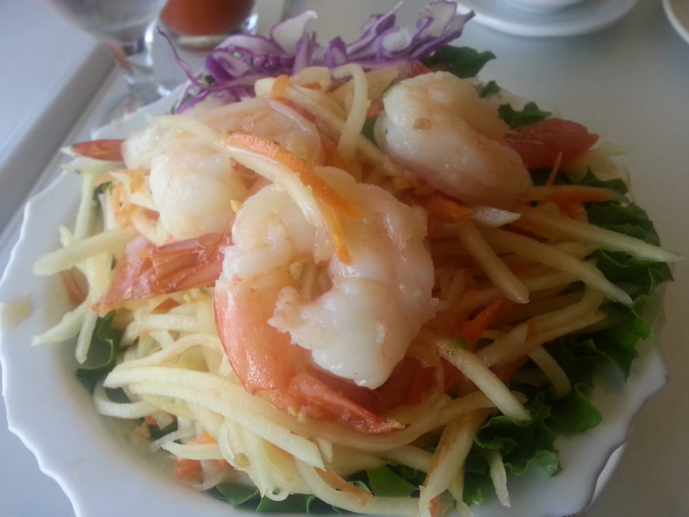Papaya salad so tasty yelp for Amarin thai cuisine menu