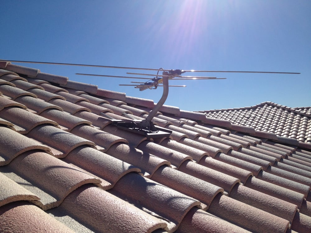 Penetrate building roof antenna wire photos 128