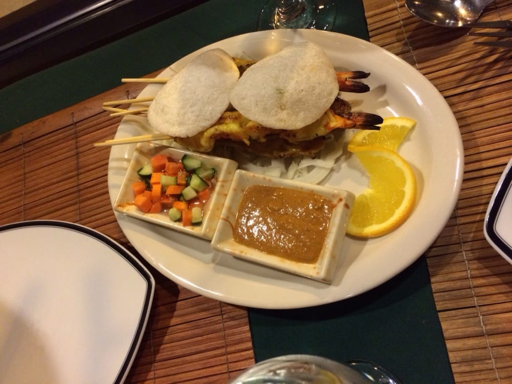 ... States. Chicken, beef, and shrimp satay with peanut sauce. Delicious