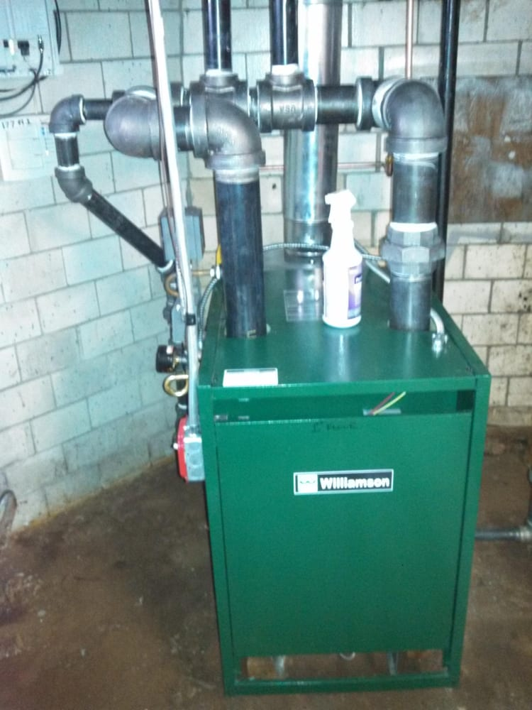 installed a brand new steam boiler converted old oil