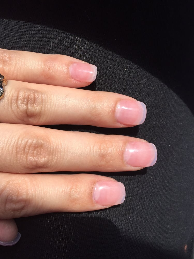 Natural look, I got the clear nail, pink powder, and clear gel ...