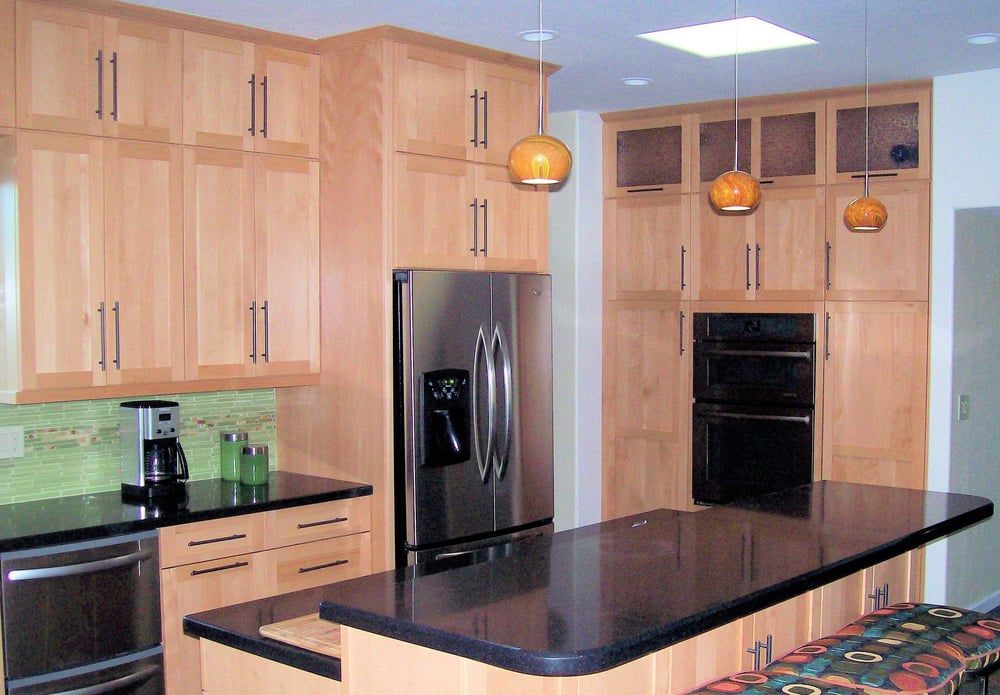 Here You See Contemporary Frameless Full Overlay Cabinets