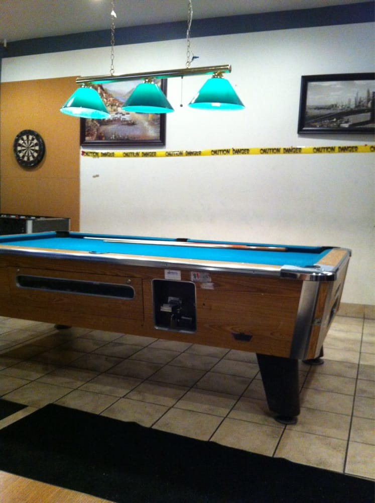 Pool Table Relax The Caution Tape Was Put Up For Halloween Yelp - How to put a pool table together