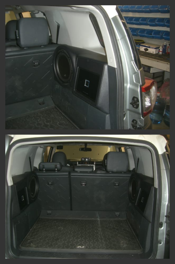 toyota fj cruiser with 2 jl audio subs and 2 alpine amps. Black Bedroom Furniture Sets. Home Design Ideas