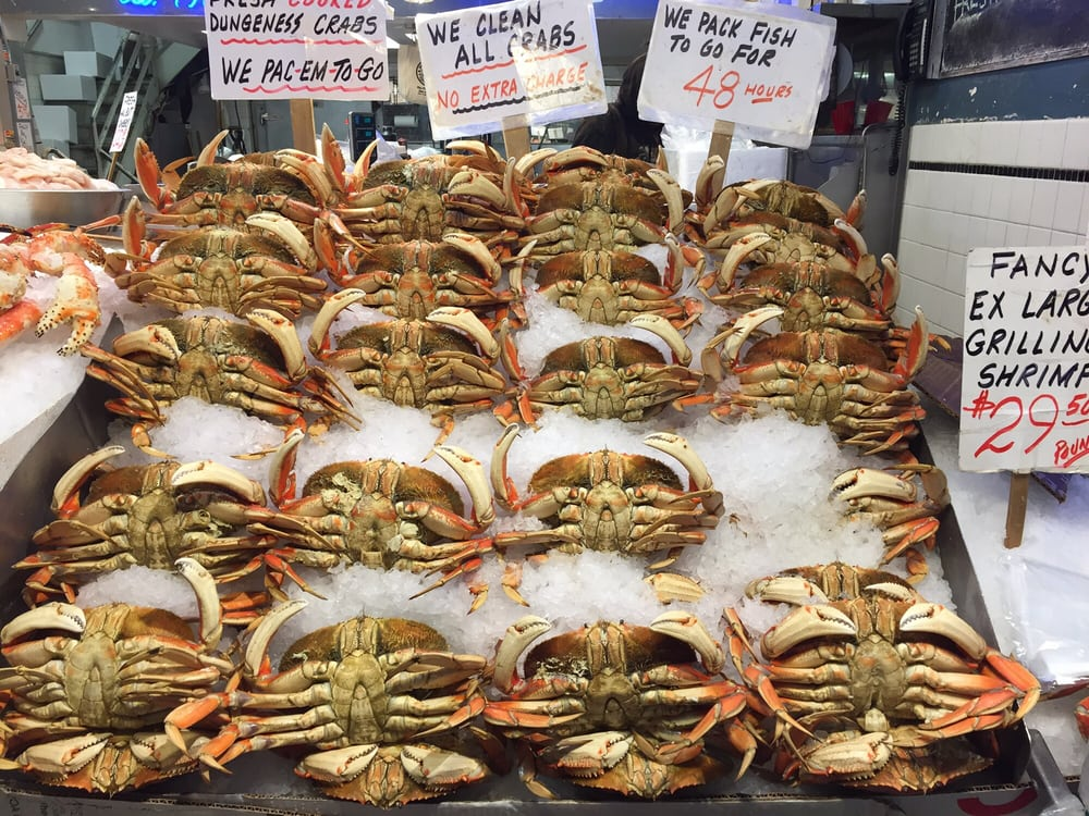 Fresh dungeness crab yelp for Pure food fish market