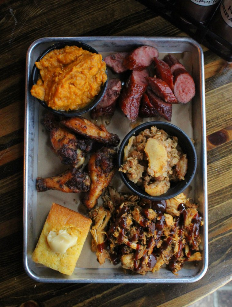 Food from Bear's Smokehouse Barbecue