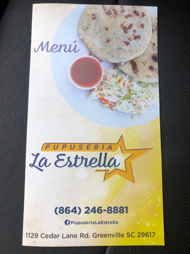 Pupusería La Estrella: 1129 Cedar Lane Rd, Greenville, SC