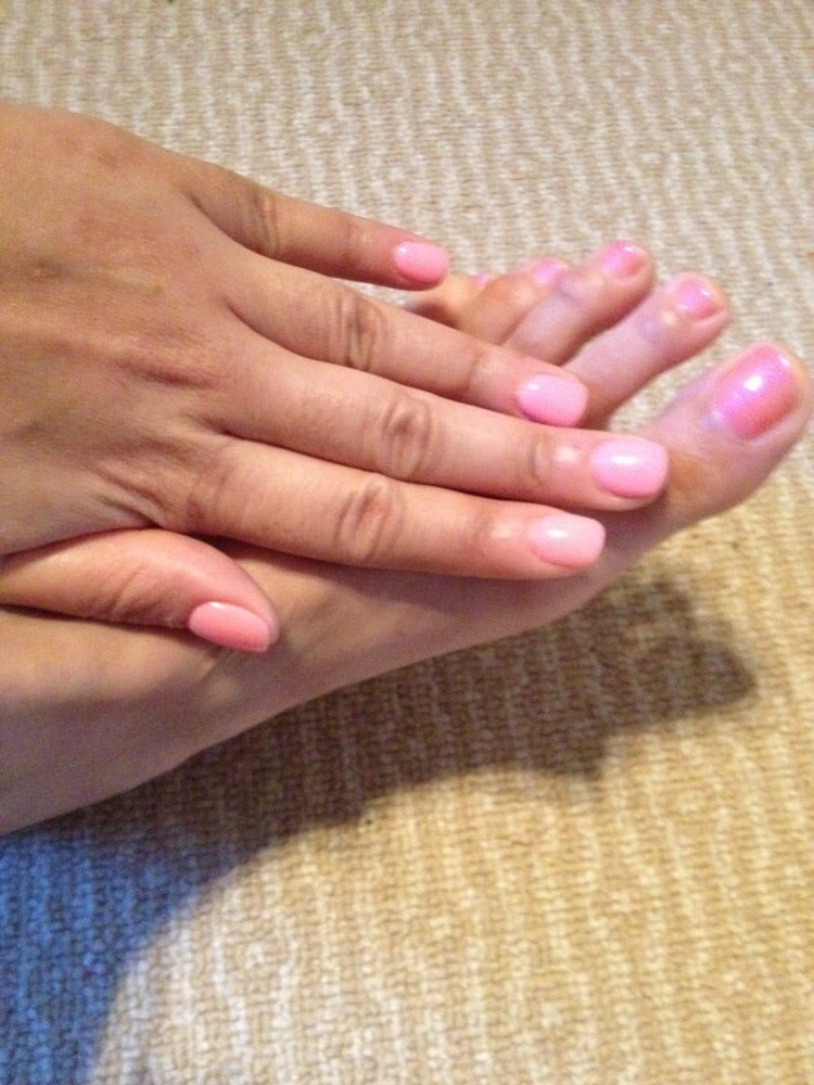ANC powder gel nails #22 and pedi. - Yelp