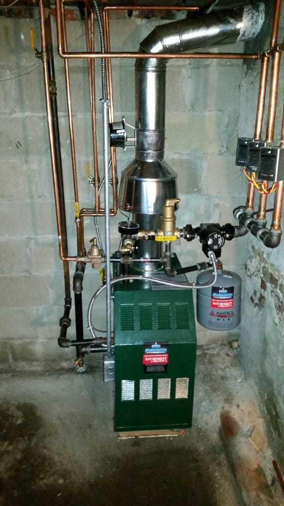 Williamson hot water boiler with three zones installed today. - Yelp
