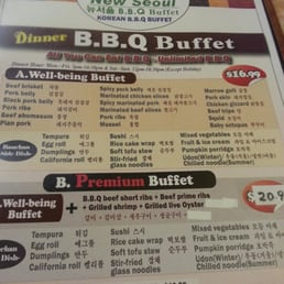 Photos For New Seoul Garden Korean Bbq Buffet Menu Yelp