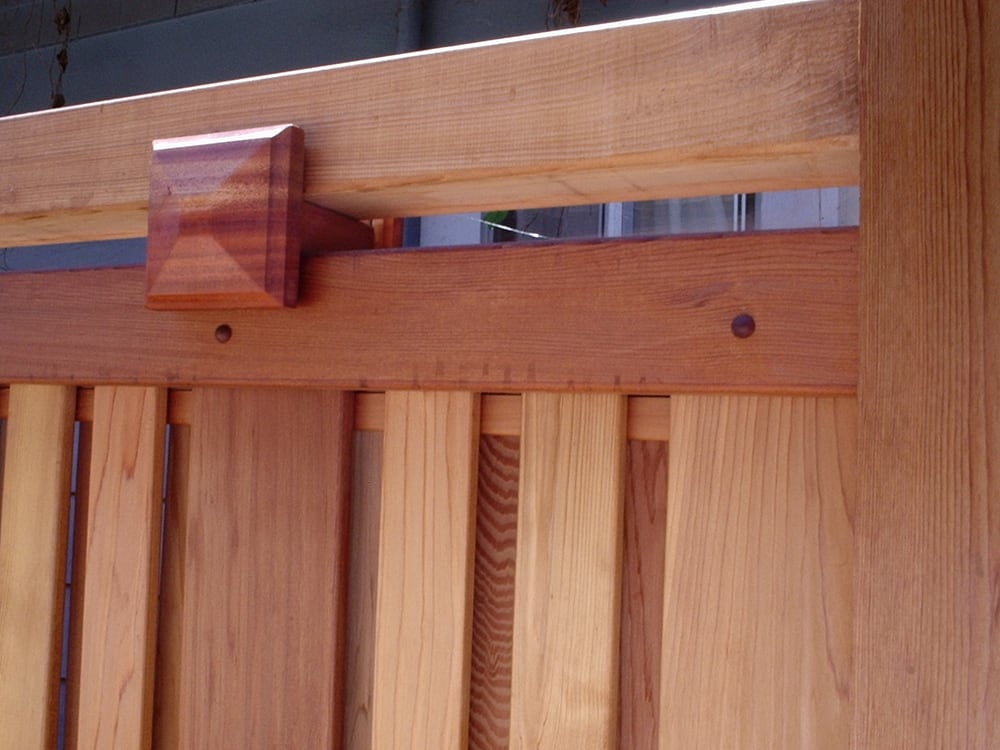 Close Up Of Craftsman Style Cedar Fence Yelp