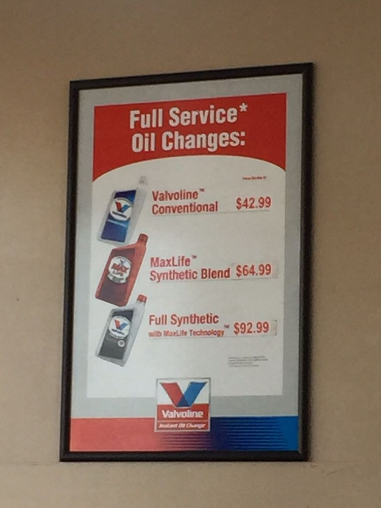 Full Synthetic Oil Change Price >> Oil Change Prices Yelp
